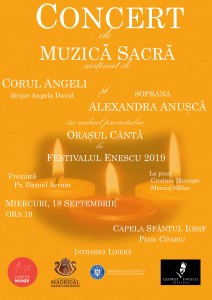 afis concert muzica sacra